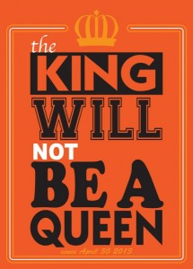 The king Will not Bea queen