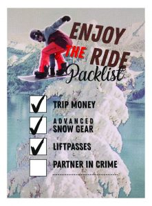 enyoj the ride packlist (protest)
