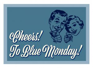 cheers! to blue monday! (ki-mono)